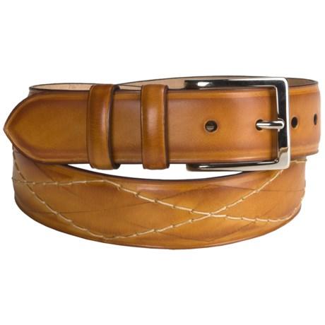 Bullock & Jones Diamond Stitch Belt - Leather (For Men)