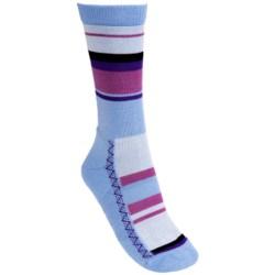 Point6 Multi-Stripe Socks - Merino Wool, Crew (For Women)