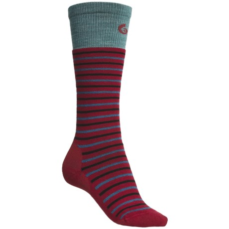 Point6 Stripe Ski Socks - Merino Wool Blend, Over-the-Calf (For Women)