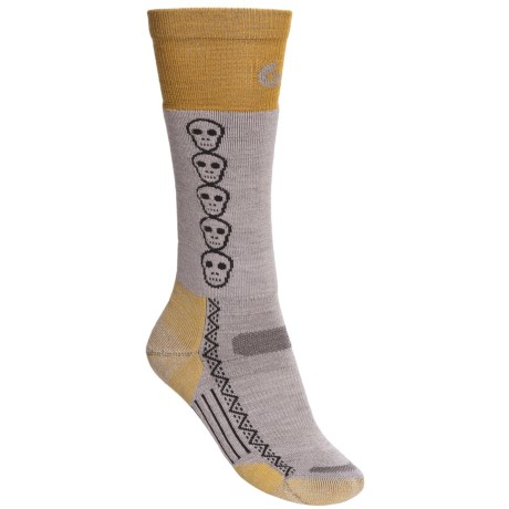 Point6 Snowboard Skulls Socks - Merino Wool, Lightweight, Over-the Calf (For Women)