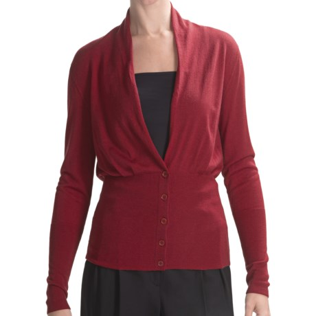 Lafayette 148 New York Cardigan Sweater - Fine-Gauge Merino Wool (For Women)