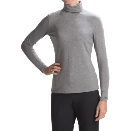 Lafayette 148 New York Nouveau Jersey Turtleneck - Long Sleeve (For Women)