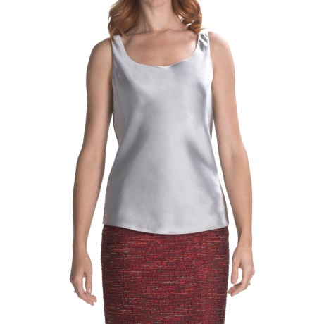 Lafayette 148 New York Silk Charmeuse Tank Top (For Women)