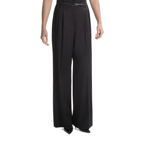 Lafayette 148 New York Tissue Wool Pants - Pleats, Wide Leg (For Women)