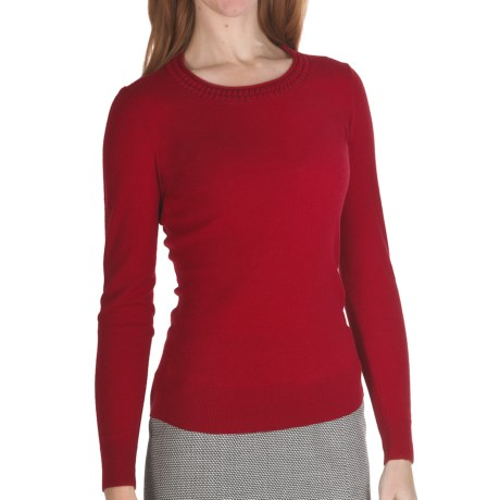 Lafayette 148 New York Cozy Flannel Wool Sweater (For Women)