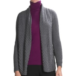 Lafayette 148 New York Plisse Cardigan Sweater - Merino Wool (For Women)
