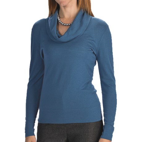 Lafayette 148 New York Fine Gauge Merino Wool Sweater - Cowl Neck (For Women)