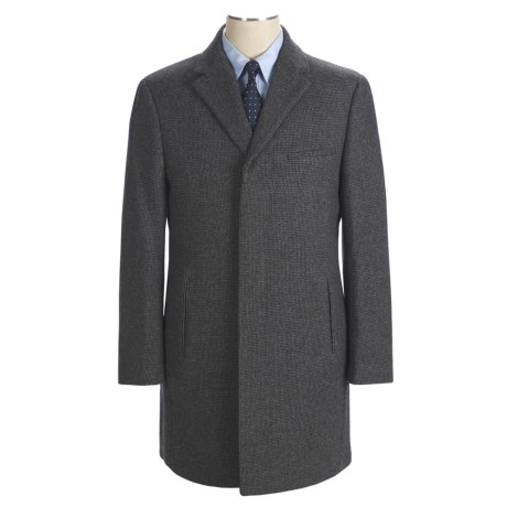 Calvin Klein Cody Topcoat - Wool Tweed (For Men)