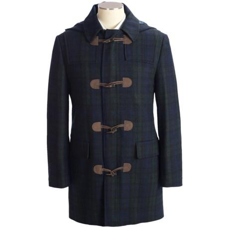 Lauren by Ralph Lauren Toggle Black Watch Plaid Duffle Coat - Detachable Hood (For Men)
