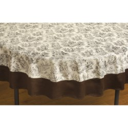 "Waverly Rustic Life Round Cotton Tablecloth - 70"" Round"