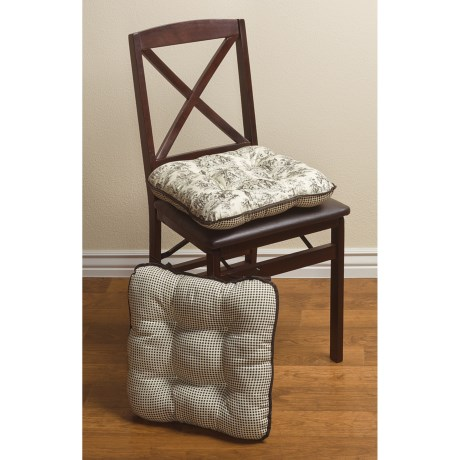Marvelous Brown Toile Chair Cushions