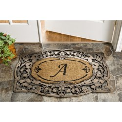 Trapz-It Handcrafted Monogram Doormat with Scroll Border - Coir