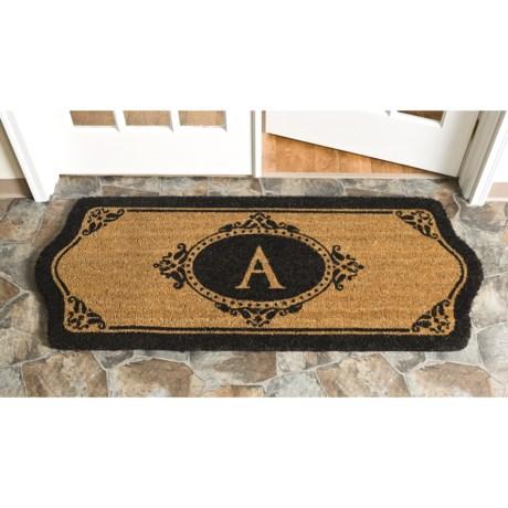 "Trapz-It Scalloped Edge Monogrammed Doormat - 2'x5'x1"""