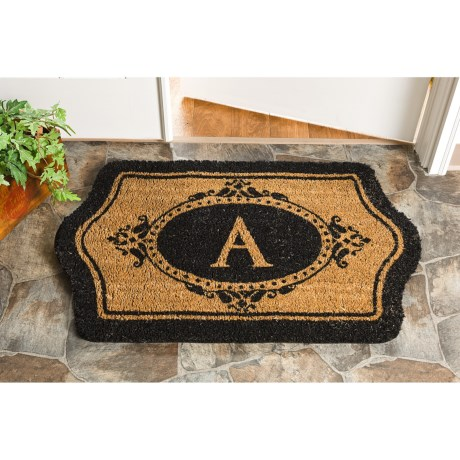 Trapz-It Scalloped Edge Monogrammed Doormat - 24x39x1""
