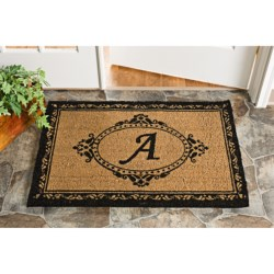 Trapz-It Handcrafted Monogram Doormat with Romantic Scroll  - Coir
