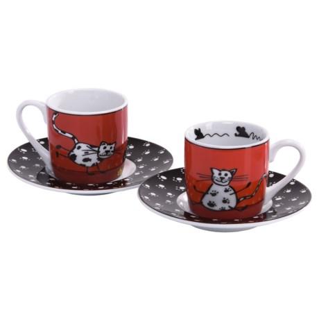 Konitz Espresso Cups and Saucer - Set of 2
