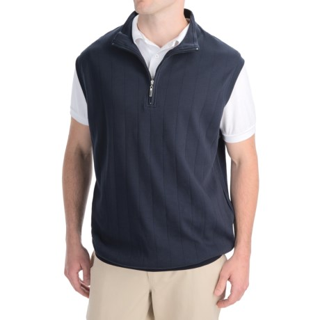 Smith & Tweed Pima Cotton Vest - Zip Neck (For Men)