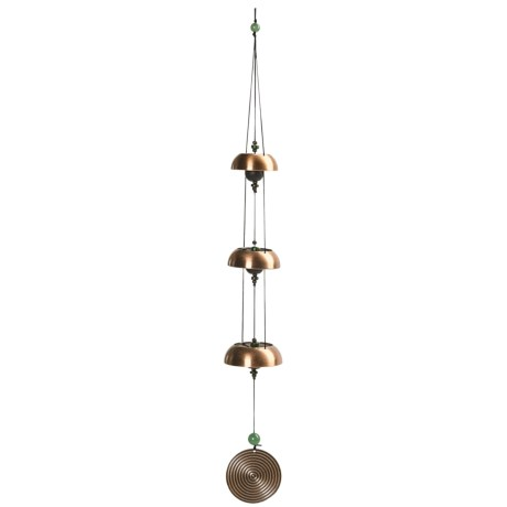 Woodstock Chimes Antique Copper Bells Percussion Wind Chime - 24""