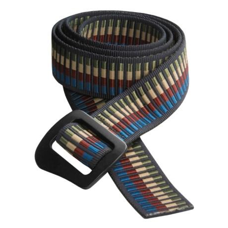 Bison Designs 30mm Web Belt with Millennium Buckle (For Men and Women)