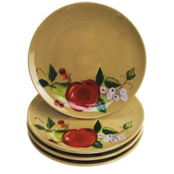 Zrike Rooster Collection Salad Plates - Set of 4