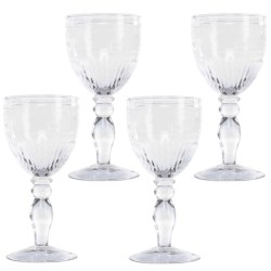 Zrike Swirl Vintage Goblets - Set of 4, Glass