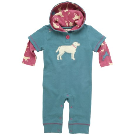 Hatley Printed Hooded Romper - Cotton, Long Sleeve (For Infants)
