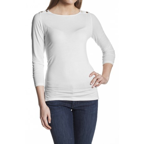 Agave Nectar Ballena Shirt - Supima® Cotton-TENCEL®, Boat Neck, 3/4 Sleeve (For Women)