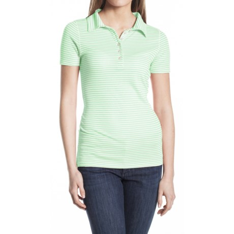 Agave Nectar Cruise Polo Shirt - Pique Cotton Blend, Short Sleeve (For Women)