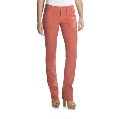 Agave Nectar Aurora Medano Slim Fit Jeans - Low Rise, Straight Leg (For Women)