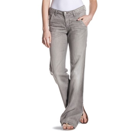 Agave Nectar Patrona Relaxed Fit Trouser Jeans - Flared Leg, Cotton-Linen (For Women)