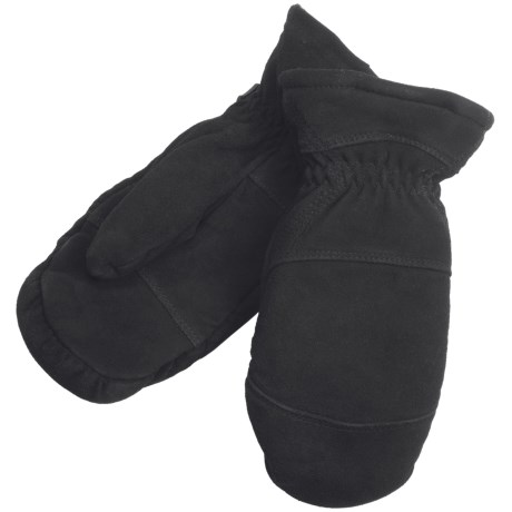 North American Trading Deerskin Chopper Mittens - Sherpa Liner (For Men)