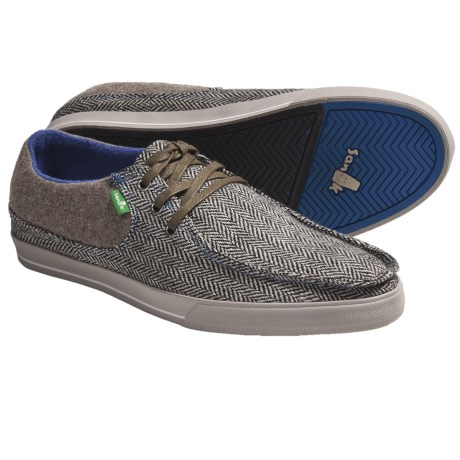 Sanuk Shunami Herringbone Sidewalk Surfer Shoes - Fleece Lining (For Men)