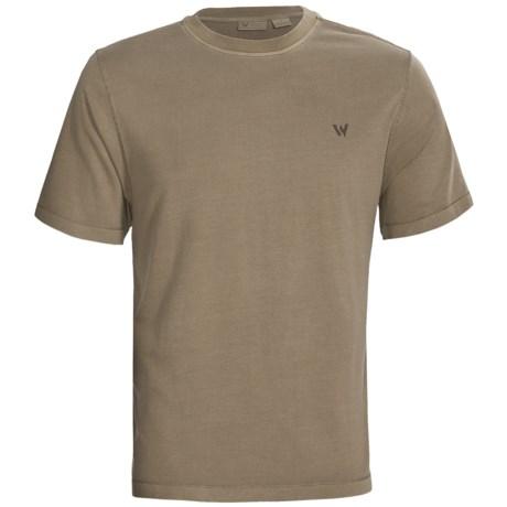 White Sierra Paddle Graphic T-Shirt - Cotton-Modal, Short Sleeve (For Men)