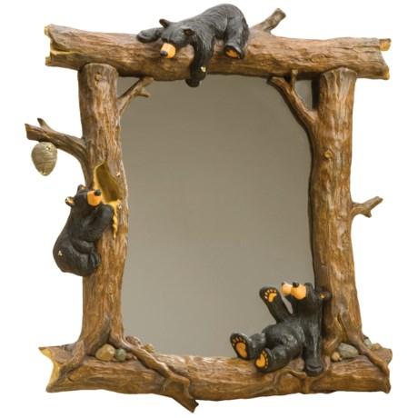 Big Sky Carvers Bear Friends Honey Bear Wall Mirror