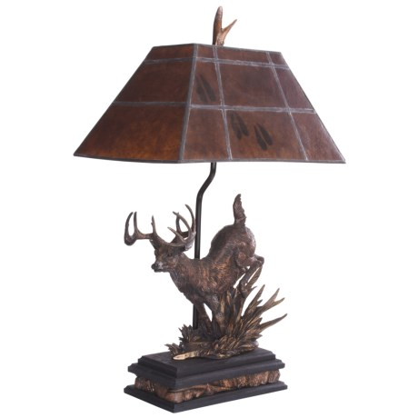 Big Sky Carvers Mica Shade Whitetail Deer Lamp