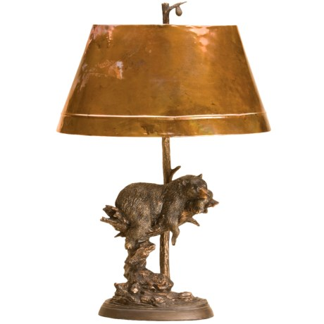 Big Sky Carvers Copper Shade Bear Lamp
