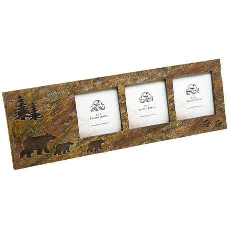 "Big Sky Carvers 3x3"" Triple Photo Frame"