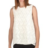 Joan Vass Double-Layer Lace Tank Top (For Women)