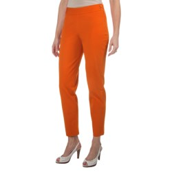 Paperwhite Stretch Cotton Crop Pants - Side Zip (For Women)