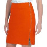 Paperwhite Side Zip Pencil Skirt - Stretch Cotton (For Women)