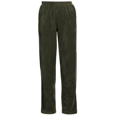 Sport Knit Corduroy Pants - Elastic Waist (For Women)
