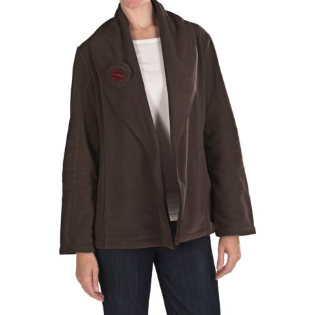 Two Star Dog Shawl Collar Jacket - Fleece (For Women)