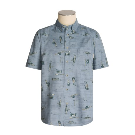 Woolrich Essex Printed Shirt - Short Sleeve (For Men)