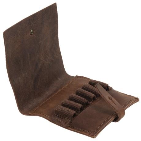 Handmade Maremmano Leather Cartridge Holder Wallet - 0.375 H&H