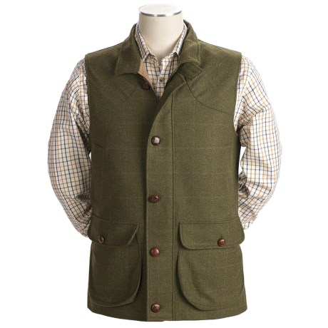 Handmade Maremmano Caccia Vest - Wool Tweed (For Men)