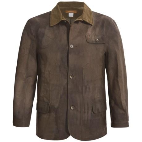 Handmade Maremmano Tuscan Hills Coat - Waxed Cotton (For Men)