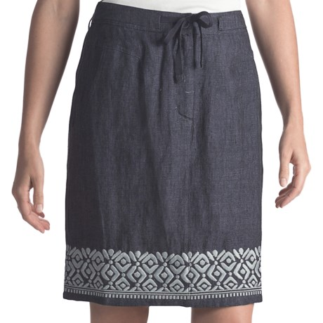 Two Star Dog Embroidered Ginny Linen Skirt (For Women)