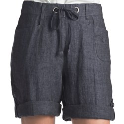 Two Star Dog Wanda Convertible Shorts - Linen (For Women)