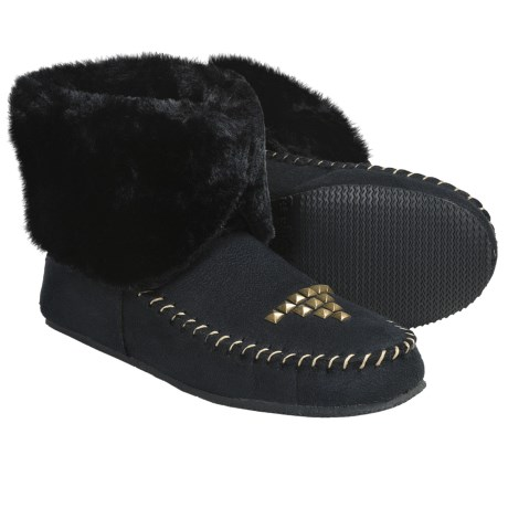 Aussie Dogs Studded Moc Bootie Slippers (For Women)