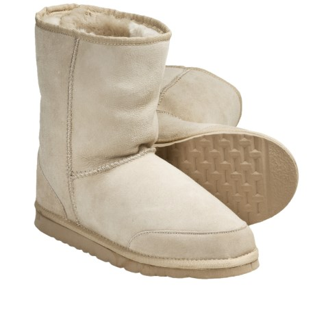 Aussie Dogs Coaster Short Twin-Face Boots - Sheepskin (For Men and Women)